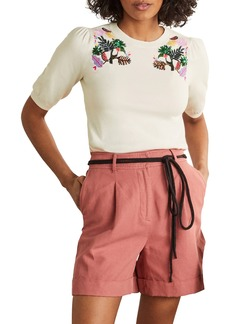 Boden Belsey Embroidered Knit Top