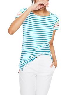 Boden Breton Short Sleeve Stripe Cotton Top