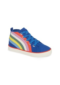 Mini Boden Canvas High Top Sneaker (Toddler & Little Kid)