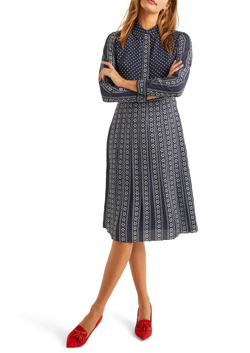 Boden Clemency Mixed Pattern Long Sleeve Shirtdress