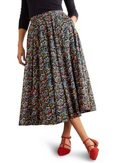Boden Corinne Flare Midi Skirt