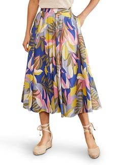 Boden Corinne Floral Print Midi Skirt