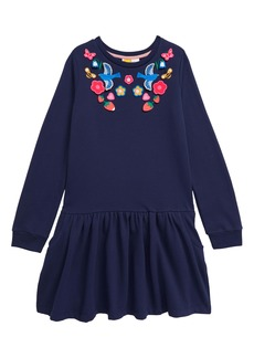 Mini Boden Boden Cozy Appliqué Dress (Toddler Girl, Little Girl & Big Girl)