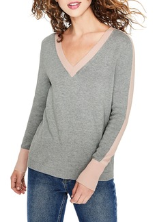 Boden Violet Cotton Wool Contrast Detail Sweater