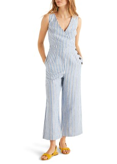 Boden Dorothea Stripe Linen Blend Jumpsuit