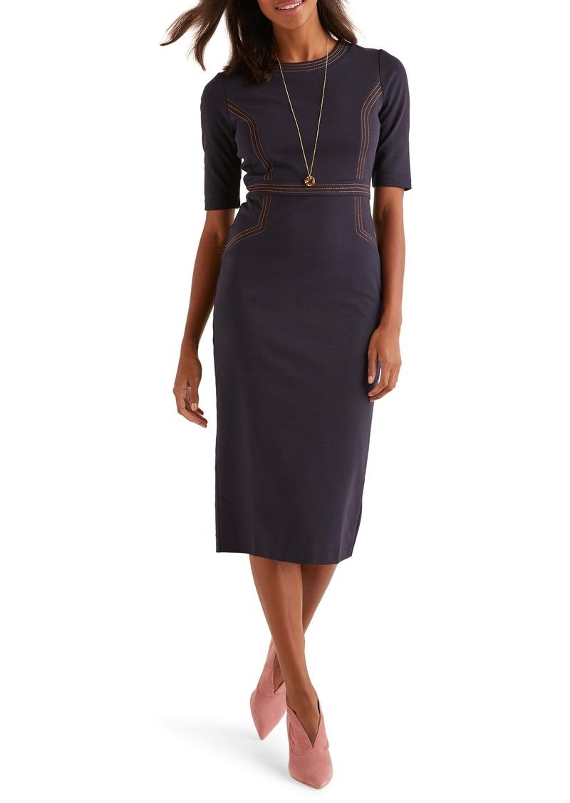 Boden Kate Stitch Detail Ponte Dress