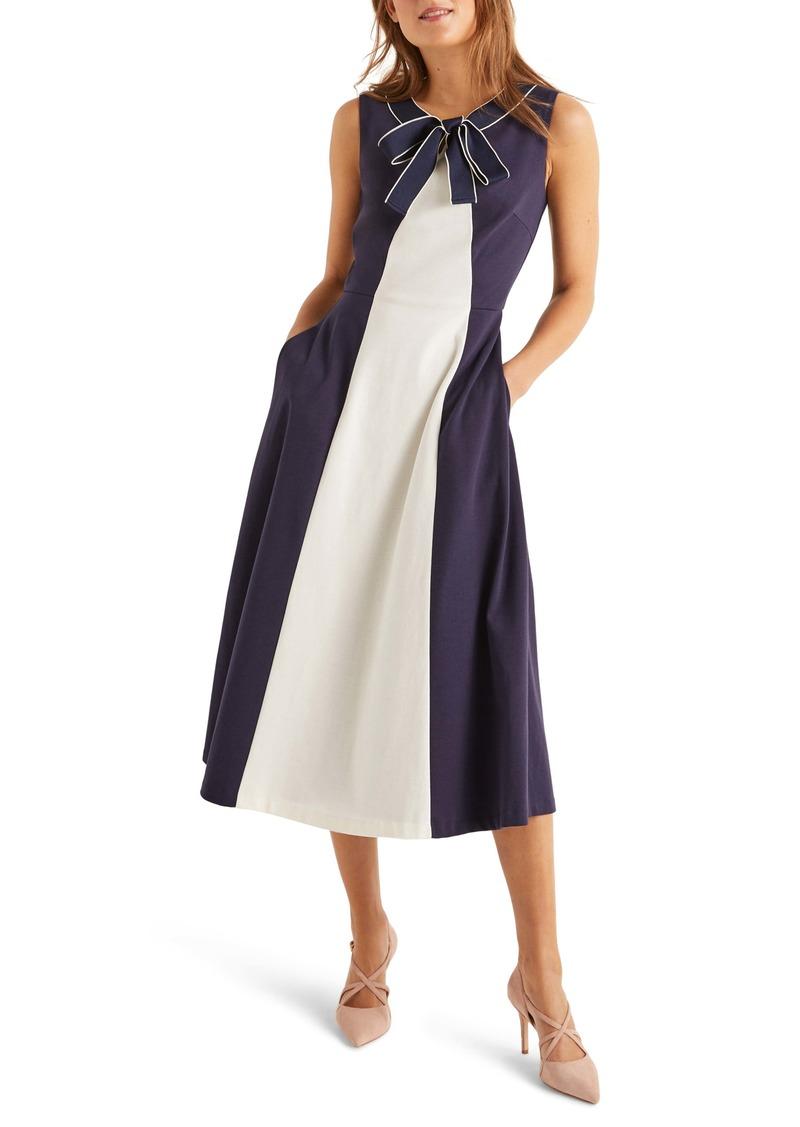 Boden Elise Ponte A-Line Midi Dress