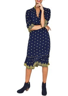 Boden Embroidered Daisy Eyelet Dress