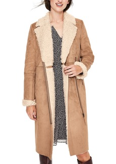 Boden Faux Shearling Lined Coat