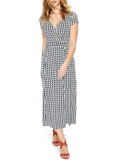 Boden Faux Wrap Midi Dress