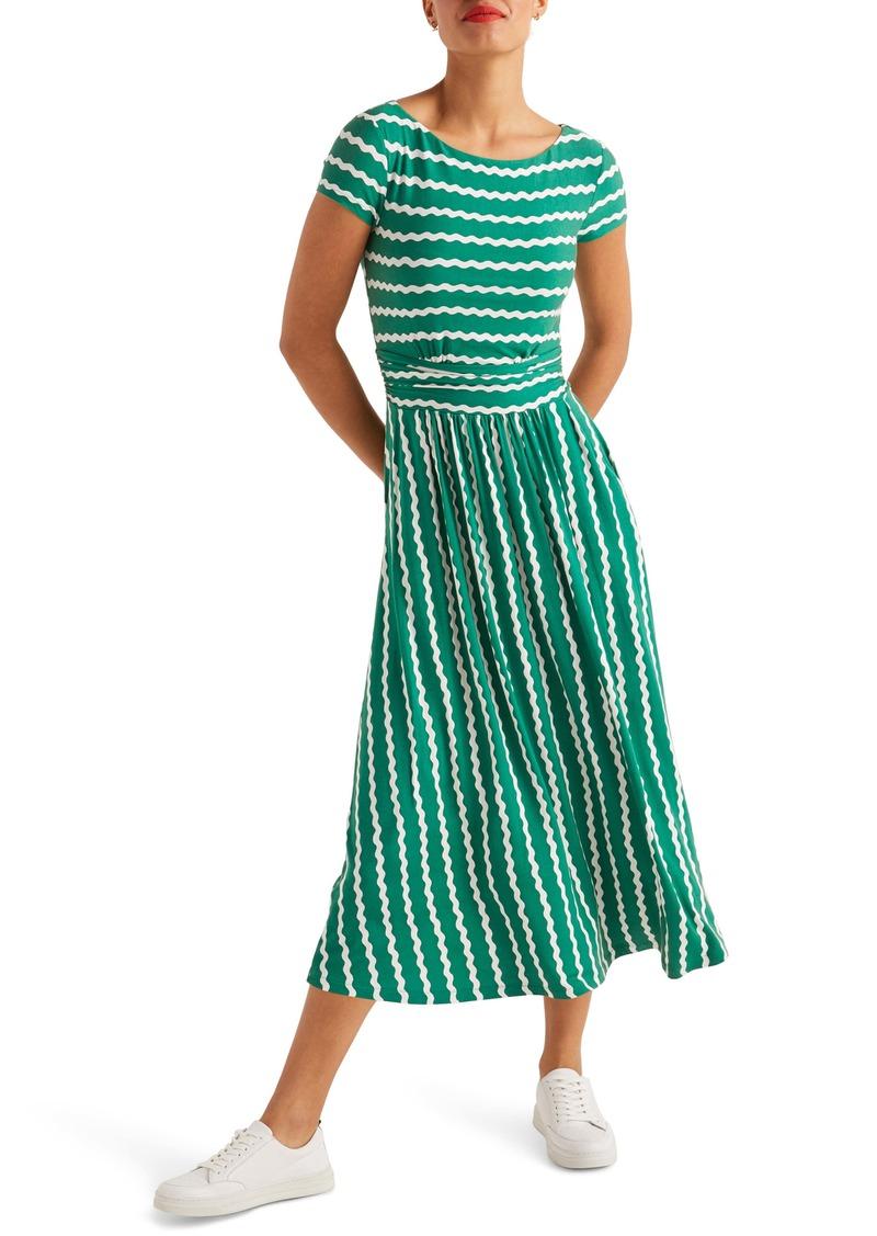 Boden Faye Print Jersey Midi Dress