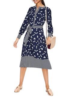 Boden Hanky Hem Pattern Mix Dress