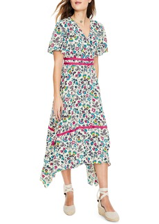 Boden Holly Handkerchief Hem Midi Dress
