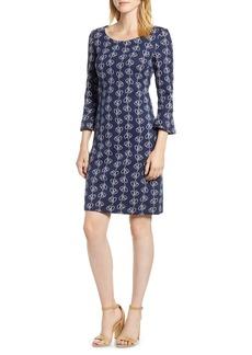 Boden Jacquard Modern Sleeve Cotton Blend Dress