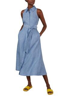 Boden Kate Sleeveless Linen Midi Shirtdress