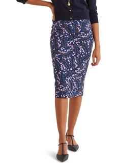 Boden Kensington Stretch Cotton Pencil Skirt
