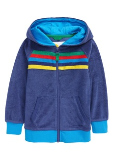 Mini Boden Kids' Towelling Zip Front Hoodie (Toddler, Little Boy & Big Boy)
