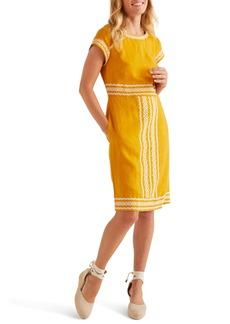 Boden Laura Embroidered Linen Dress