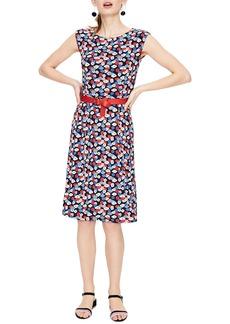 Boden Marina Belted Floral Jersey Dress