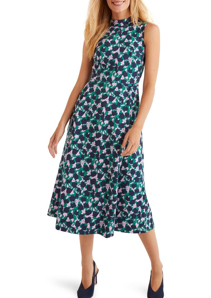 Boden Miriam Floral Sleeveless Ponte Midi Dress