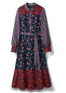 Boden Mixed Print Midi Shirtdress