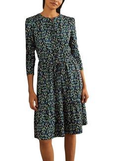 Boden Nancy Tiered Tie Waist Jersey Dress