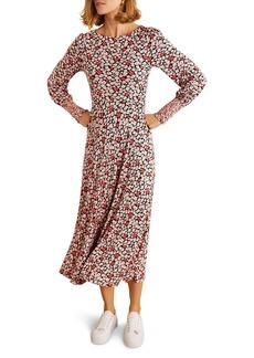 Boden Naomi Smocked Long Sleeve Jersey Dress