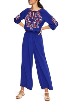 Boden Natalie Embroidered Jumpsuit