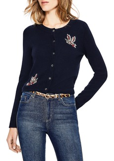 Boden Nell Beaded Bird Embellished Cardigan