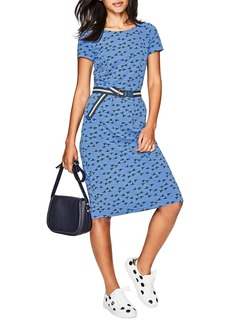 Boden Phoebe Bird Print Jersey Dress