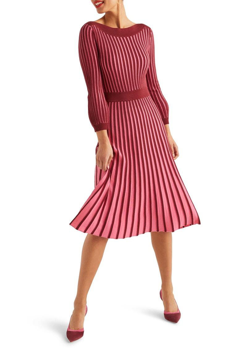 Boden Rita Pleated Knit Dress