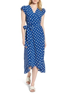 Boden Polka Dot Wrap Dress