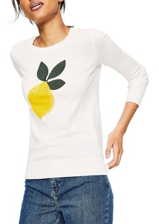 Boden Print Cotton Sweater