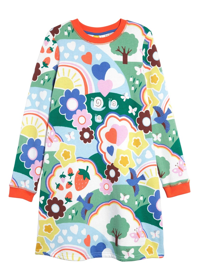Mini Boden Boden Print Sweatshirt Dress (Toddler Girls, Little Girls & Big Girls)