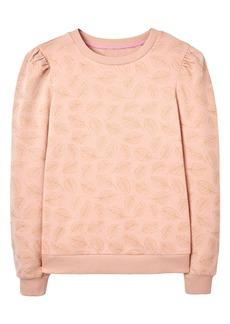 Boden Puff Sleeve Sweatshirt