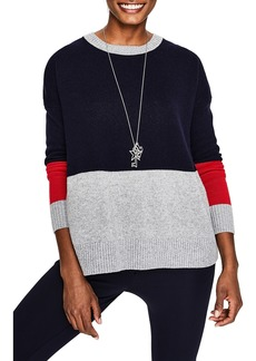 Boden Relaxed Colorblock Wool Cashmere Blend Sweater