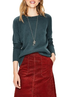 Boden Heidi Ribbed Sleeve Wool Cashmere Sweater
