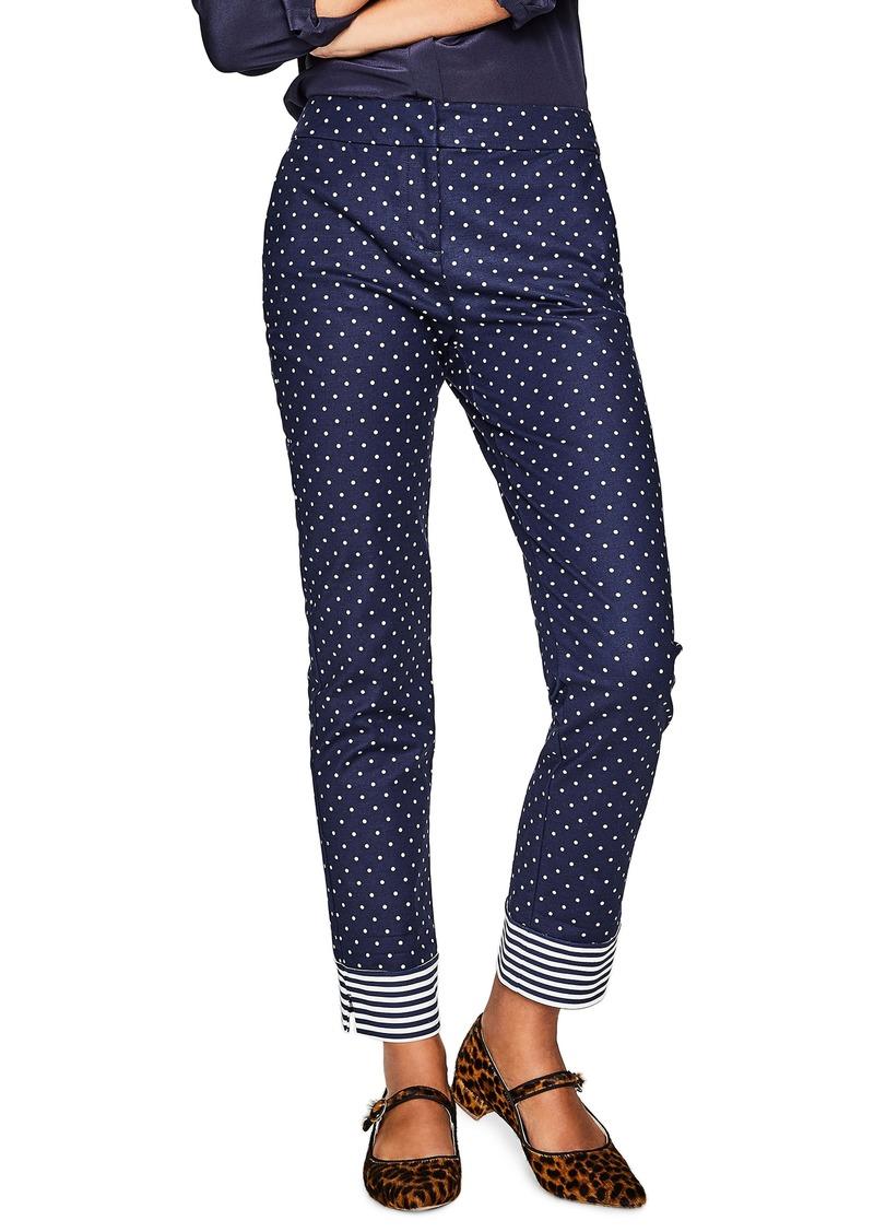 3daefb598f6 Boden Boden Richmond Polka Dot Stripe Contrast Ankle Pants