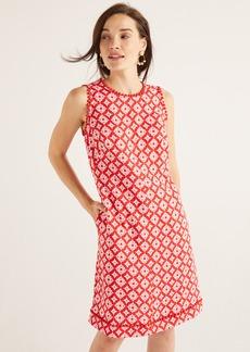 Boden Romaine Pom Linen Shift Dress