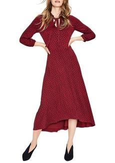 Boden Rosa Scattered Spot Jersey Midi Dress