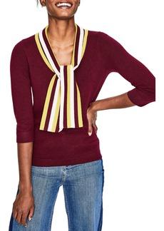 Boden Tie Neck Sweater