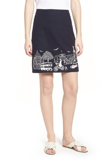 Boden Tilda Embroidered Cotton Skirt