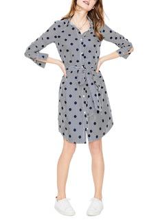 Boden Trend Stripe Dot Cotton Shirtdress