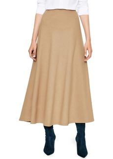Boden Wool Blend Midi Skirt
