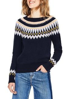 Boden Wool Cotton Alpaca Fair Isle Sweater