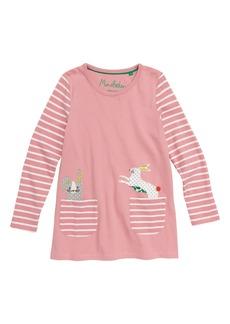 Mini Boden Animal Pocket Tunic (Toddler Girls, Little Girls & Big Girls)