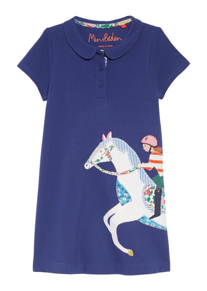 0f1a766ba Mini Boden Appliqué Polo Dress (Toddler Girls, Little Girls & Big Girls)