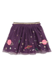 Mini Boden Appliqué Tulle Skirt (Toddler Girls, Little Girls & Big Girls)