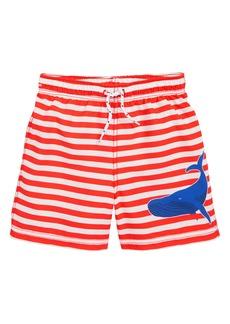 Mini Boden Bathers Stripe Swim Trunks (Toddler Boys, Little Boys & Big Boys)