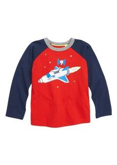 Mini Boden Foil Space Raglan T-Shirt (Toddler Boys, Little Boys & Big Boys)